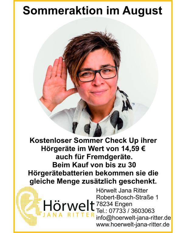 Sommeraktion im August